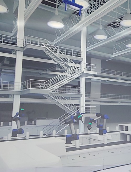As part of it Future X line-up, Nokia has a 3D simulation of a factory that can be managed by drones and robots (under human control).