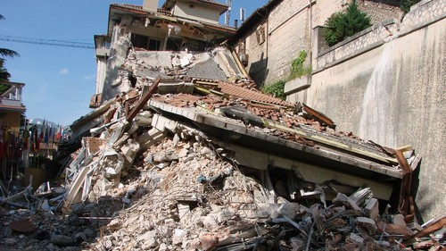 Much of L'Aquila was in ruins after the 2009 earthquake.