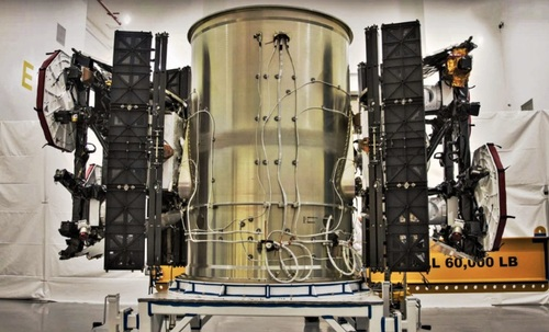 A Starlink prototype satellite. Source: SpaceX.