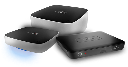 Though many CommScope investors perceive Arris as a set-top box business (pictured is a set of Arris-made Android TV boxes), Notter notes that Arris's Network & Cloud business has likewise been 'significantly undervalued' by investors given the early state of DOCSIS 3.1 and fiber-deep deployments by cable operators.