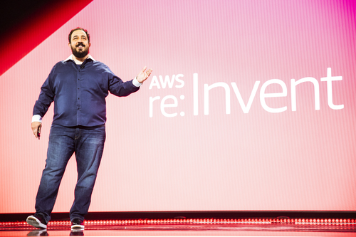 Amazon Web Services' Peter DeSantis looks like a nice guy, but is he bringing telco death and destruction? (Photo source: AWS)