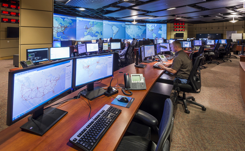 CenturyLink operations center in Broomfield, Colorado. Photo by CenturyLink.