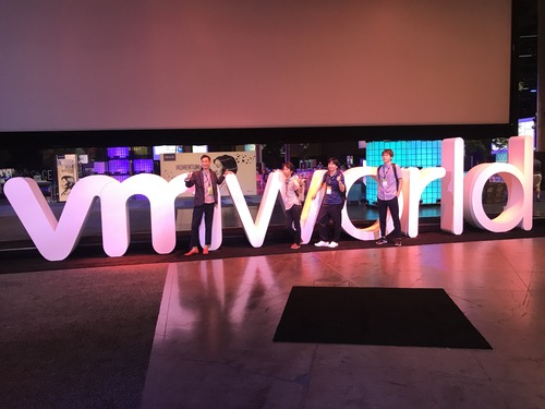 At VMware's VMworld 2018 conference, Las Vegas, August.