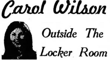 Really bad reproduction of my column logo as a sportswriter.