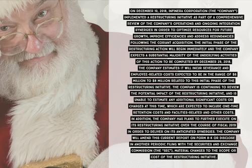 Infinera's December 10 SEC filing reimagined as Santa's naughty list.
