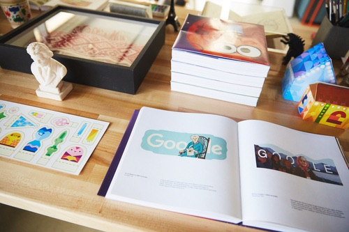 Google doodle book. Photo source: Google.