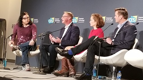 Panelists discussed the future (and seemingly inevitable) benefits and challenges of a Quantum-powered Internet: (left to right) Ina Fried (session moderator), Axios; 
