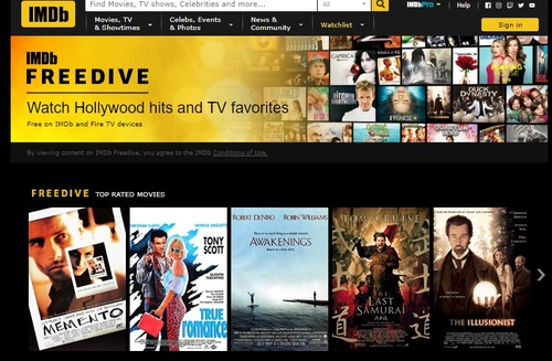 Amazon will try to use IMDb's massive reach on the web and its mobile apps to lure eyeballs to Freedive.
