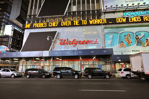 Times Square Walgreens, NY, 2008. Photo by Jazz Guy(CC BY 2.0)