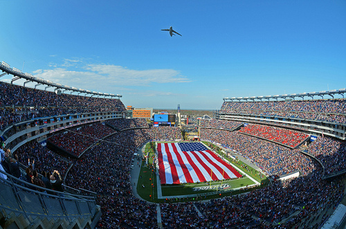 Gillette Stadium, home of five-time Super Bowl champions the New England Patriots, was Extreme's first stadium win.