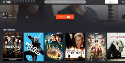 To push its free, ad-based content agenda, Tubi likes to spotlight some content that isn't offered on the popular SVoD service.