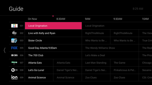 Kinetic TV will also feature a new interactive guide that will show live TV programming and provide access to cloud-based recordings.
