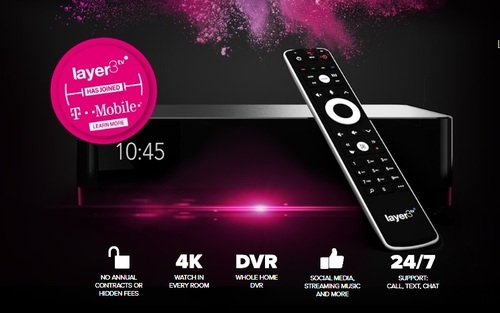 T-Mobile plans to introduce a rebranded and 'reimagined' version of its home pay-TV product in 1H 2019, and in more markets than the handful that Layer3 TV has service available today.