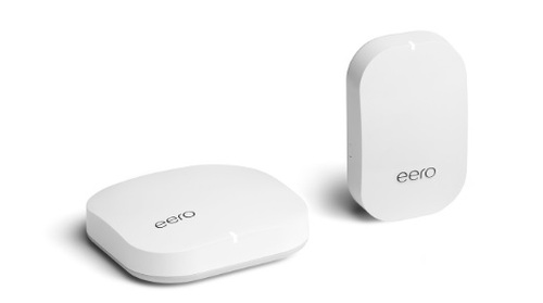 The eero hub (left) and eero Beacon. Amazon said eero products have a 4.6-star product rating with the online retailer.