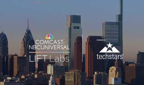 Starting with this year's class, the Lift Labs accelerator will operate from the fourth floor of the recently opened Comcast Technology Center in Philadelphia (the tallest building in the image). Image source: Comcast.