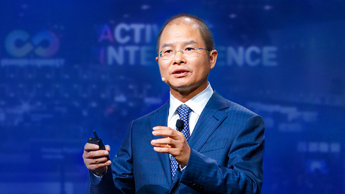 Huawei's Eric Xu, pictured here in non-rotating mode.