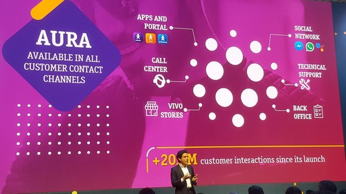 Aura has handled more than 20 million customer interactions via multiple channels, explained Christian Gebara.