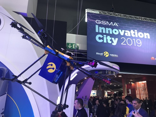 One of numerous drones shown off at this year's MWC.