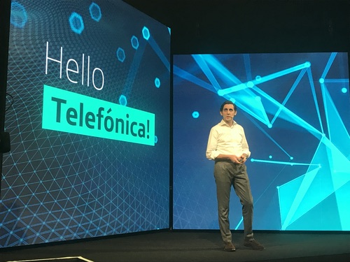 Shown here at Telefonica's Barcelona offices in 2018, CEO Jose Maria Alvarez-Pallete Lopez is a big believer in network transformation.