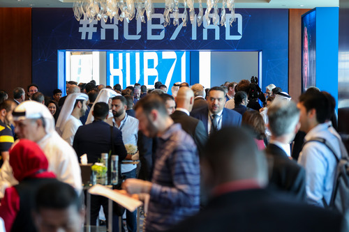 Standing room only at the Hub71 launch event.