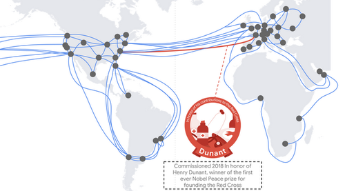 The Dunant cable will run between Virginia and northern Spain.