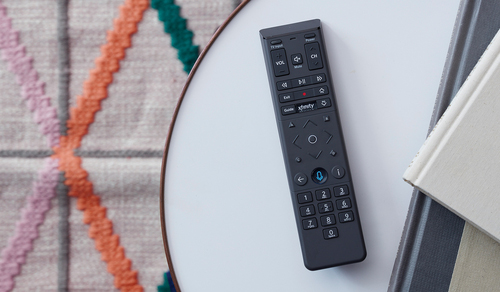 Comcast is working with new UK-based corporate cousin Sky to integrate X1's voice navigation and search capabilities into Sky's video platform, a clear indication that it's technically possible to deploy that voice technology without the full X1 platform. Pictured is the recently redesigned X1 voice remote, the XR15.