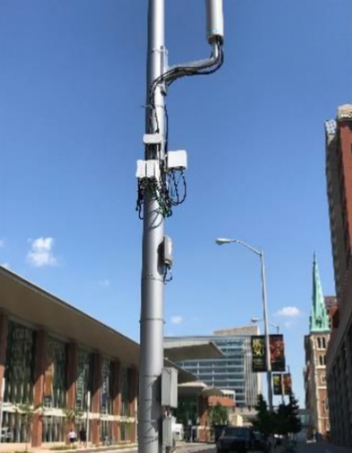 Some have complained about the aesthetics of small cell installations.  Source: Michael J. Marcus