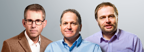 Conrad Clemson (left) has joined EditShare as CEO while fellow company co-founders Andy Liebman (middle) and Tara Montford take on the respective roles of chief strategy officer and EVP, business development. Following the majority investment by ParkerGale, Liebman and Montford become the largest individual shareholders in EditShare.