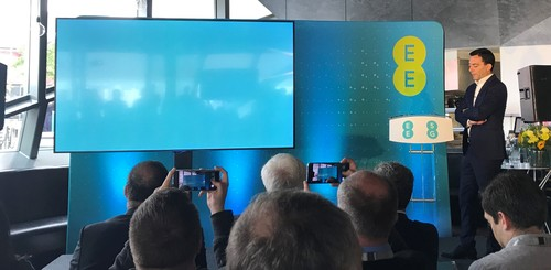 EE's Marc Allera ponders the meaning of 5G at a press conference in central London.