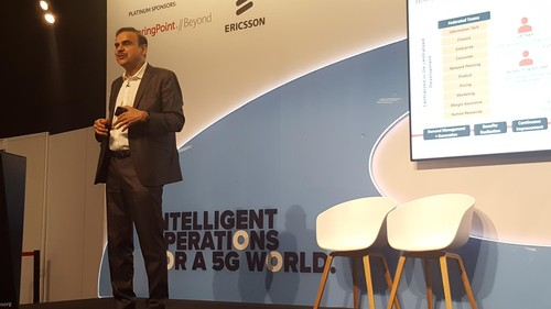Pari Bajpay, CenturyLink's vice president of Next Generation Enablement, gives his presentation at Digital Transformation World.