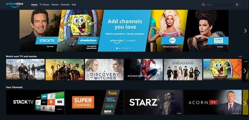 Amazon's Prime Video Channels OTT service for the Canadian market will include a mix of live TV and VoD subscription services.