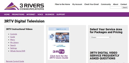 3 Rivers's pay-TV product offers a line-up of HD channels and a whole-home DVR option, but doesn't support video-on-demand, a service that is table stakes for pay-TV service providers of any size.