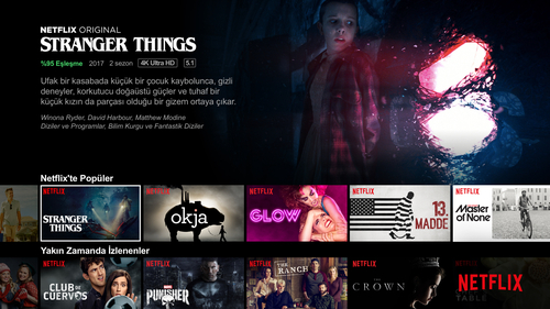 At $4.02, Netflix's ARPU in Turkey is the lowest among all countries studied by MoffettNathanson for this report. Pictured is a Turkish version of the Netflix UI.  