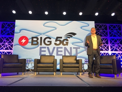 Shown here presenting at Light Reading's recent Big 5G Event, Ibrahim Gedeon of Canada's Telus is no fan of private 5G.