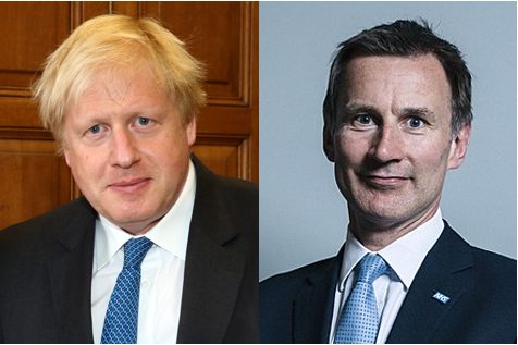 Boris Johnson (left) or Jeremy Hunt will have to make a quick decision about Huawei, say UK politicians.