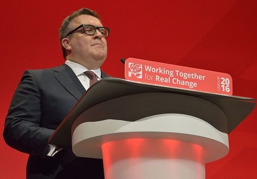 'The record shows he took the blows and did it Huawei,' croons Labour's Tom Watson (pictured), in a tribute to Jeremy Wright of the Conservative Party, during parliamentary questions earlier today.