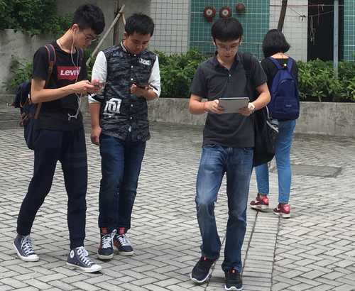 Smombies (smartphone zombies) are a growing danger in Asian countries.