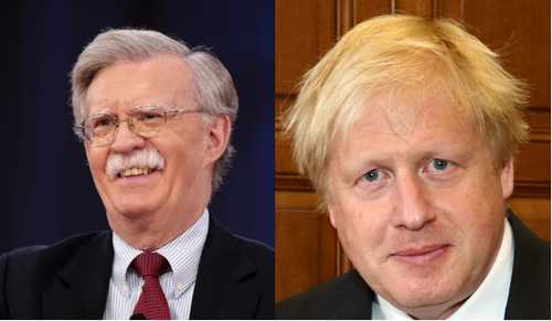 John Bolton (left), the US national security advisor, met Boris Johnson, the UK's prime minister, in London this week.