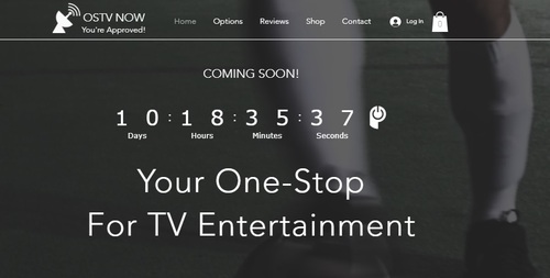 OSTV Now, a service evidently linked to OmniShop Media and Jason DeMeo, is set to launch in early September according to the online countdown. This screencap from www.ostvnow.com was taken the afternoon of Aug. 22, 2019.
