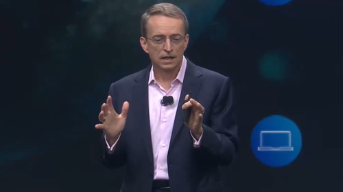 VMware CEO Pat Gelsinger gives the opening address at VMworld US 2019.