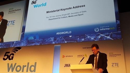 Former UK digital secretary Jeremy Wright, shown here speaking at an Informa event in London in June.