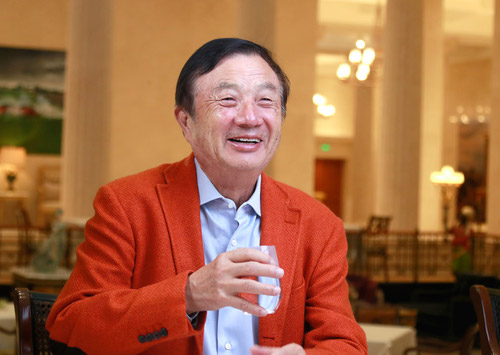 Ren Zhengfei, Huawei's founder, during one of his recent interviews with the media.