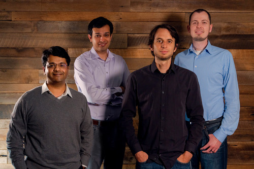 From left to right it's: Nikhil Handigol, Peyman Kazemian, Brandon Heller, and David Erickson. Source: Forward Networks