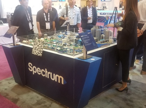 Charter's Lego smart city is comprised of more than 50,000 pieces from 20 countries, 75 feet of wiring and took 541 man-hours to build.