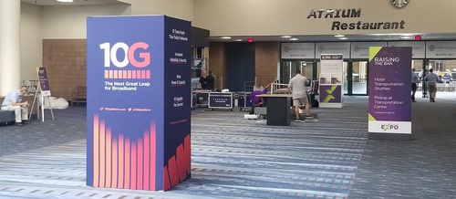 '10G' signage was ever-present at this year's Cable-Tec Expo.