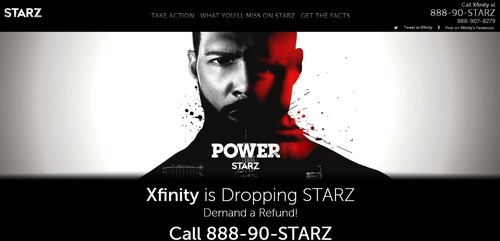 Starz has launched a campaign urging Comcast customers to seek a refund as the operator prepares to remove the premium programmer from select pay-TV packages.