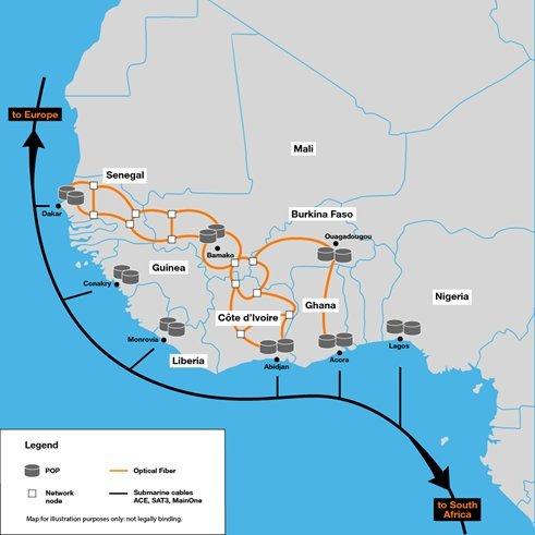 Orange adds backbone in West Africa.  (Source: Orange)