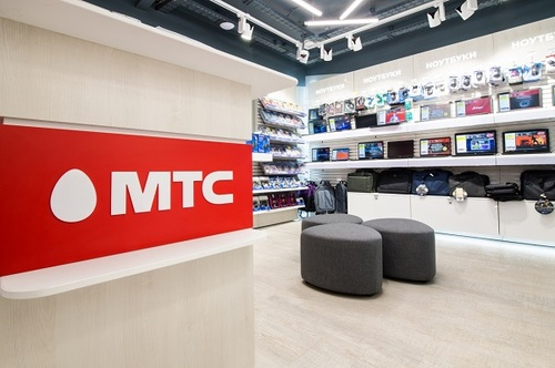 An MTS shop in Moscow.