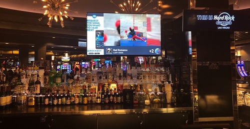 The Hard Rock Hotel in Las Vegas is one of the first to roll out Rockbot's new TV service.