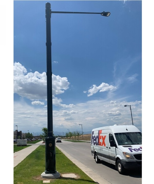 Some carriers have already been working with utilities to 'hide' their small cells near the tops of street lights. (Source: Xcel)